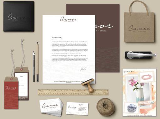Identité visuelle et logo pour Canoe
