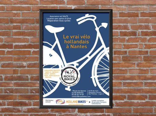 Flyer et affiche Royal Bikes de Nantes