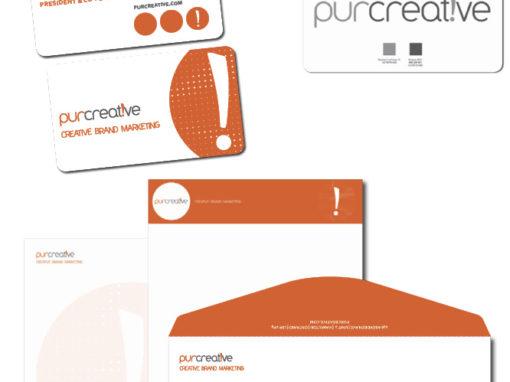Identité visuelle et logo Purcreative