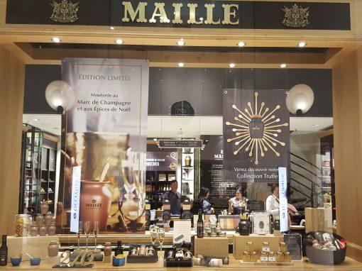 Supports de communication Boutiques Maille (Unilever)